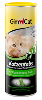 Таблетки за коте с алгобиотин и биотин - GimCat Tabs with Algobiotin, 710 бр.