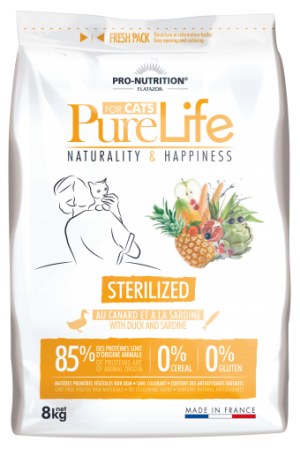 Pure Life Cat STERILIZED С ПАТЕШКО И САРДИНИ 8 kg