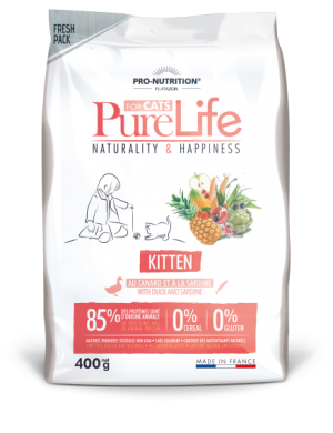 Pure Life Cat KITTEN С ПАТЕШКО И САРДИНИ 400 g