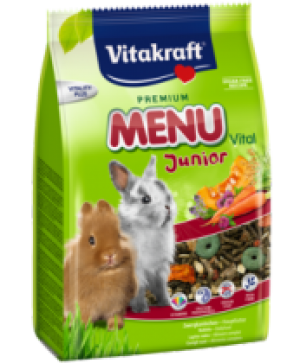 Храна за декоративни зайчета бебета - 500г Vitakraft Premium Menu Junior