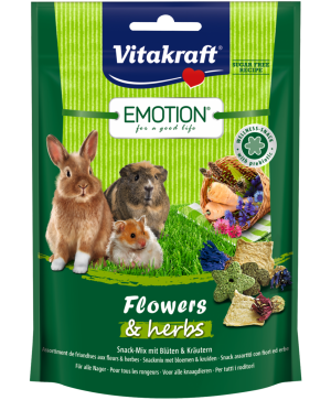 Храна за гризачи - Vitakraft Emotion Flowers & Herbs 70г - снакс с цветя и билки