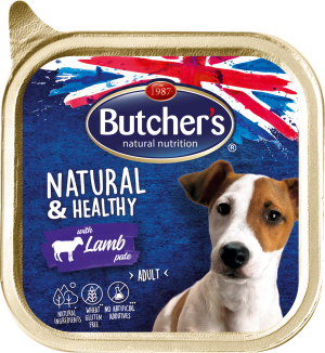 Butcher's Natural & Healthy Pate 150г – Пастет за кучета с агнешко